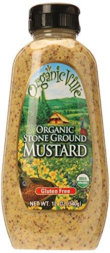 Organicville Stone Ground Organic Mustard, 12 oz