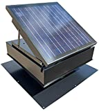 30-Watt Solar Attic Fan (Black) with Thermostat / Humidistat (22 x 22 x 11 IN) - Brushless Motor – Hail and Weather Resistant Solar Vent Fan – Solar Powered Attic Fan for Homes - by Remington Solar