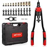 WETOLS 16' Rivet Nut Tool, Professional Rivet Nut Tool Kit with 11 Metric & Inch Mandrels M3 M4 M5 M6 M8 M10 M12, 10-24, 1/4-20, 5/16-18, 3/8-16, 110pcs Rivnuts and Blow Carry Case - WE-889