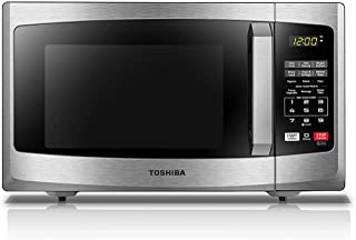 Toshiba EM925A5A-SS Microwave Oven with Sound On/Off ECO Mode and LED Lighting, 0.9 Cu...