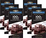Ghirardelli Chocolate Baking Bar, 100% Cacao Unsweetened Chocolate, 4-Ounce Bars (Pack of 6)