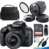 Canon EOS 4000D Digital Camera with EF-S 18-55MM F/3.5-5.6 III Lens + 64GB Intermediate Accessories Bundle (International Version)