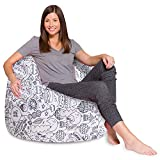 Posh Beanbags Bean Bag Chair, X-Large-48in, Canvas Coloring Fabric - Fun Creatures