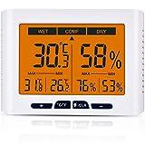 Diyife Hygromètre Thermomètre, 4,3 Pouces écran Intérieur Température et...