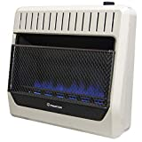 ProCom MG30TBF Ventless Dual Fuel Blue Flame Wall Heater Thermostat Control  30,000 BTU, White