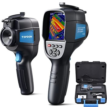 """TOPDON ITC629 Caméra Thermique Infrarouge Portable, Imageur Thermique (Plage de Température: -20℃ à 450℃, Sensibilité 0,07 ℃, Résolution 220 * 160, Écran d'Affichage Couleur 3,2"""", Batterie Incluse)"""