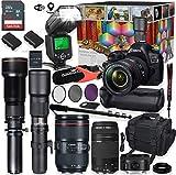 Canon EOS 5D Mark IV DSLR Camera 5 Lens Professional Bundle with Canon 24-105mm USM, 50mm f/1.8 &...