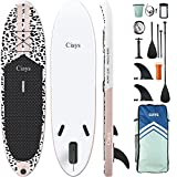 Ciays Inflatable Stand Up Paddle Board W SUP Accessories of Backpack, 2 Fins, 2 Bags, Leash, Floating Paddles and Double Action Hand Pump All-Around Paddleboard Perfect for Yoga, Tour, Fishing, Pink