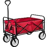 TecTake Chariot de transport à main Remorque de jardin pliable | 95 x 53,5 x...