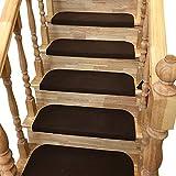 Y-Step Lot de 15 tapis pour marches d'escalier adhésifs et antidérapants,...