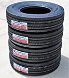 Set of 4 (FOUR) Transeagle ST Radial All Steel Heavy Duty Premium Trailer Radial Tires-ST235/80R16 235/80/16 235/80-16 129/125M Load Range G LRG 14-Ply BSW Black Side Wall