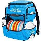 Dynamic Discs Ranger Disc Golf Backpack | Large Main Compartment That can Hold 18+ Discs | On-Deck Disc Golf Putter Pouch Capable of Holding Two Disc Golf Putters (Hyper Blue)