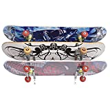 YYST 45° Angles Skateboard Wall Mount Skateboard Wall Hanger Storage Rack to fit Long Board , Skateboard, ,etc- W Silicone Pad in The Slot (6)
