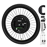 GRM iMortor 3.0 Wireless Electric Bike Wheel,APP Based,26'x1.95' Disc-Brake Bicycle Front Wheel Conversion Kits,36V/350W Powerful Motor Kit for Android & iOS, All Bluetooth Versions,MTB/CTB/Cruiser