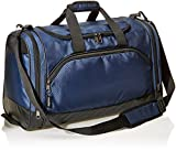AmazonBasics Small Lightweight Durable Sports Duffel Gym and Overnight Travel Bag - Navy Blue