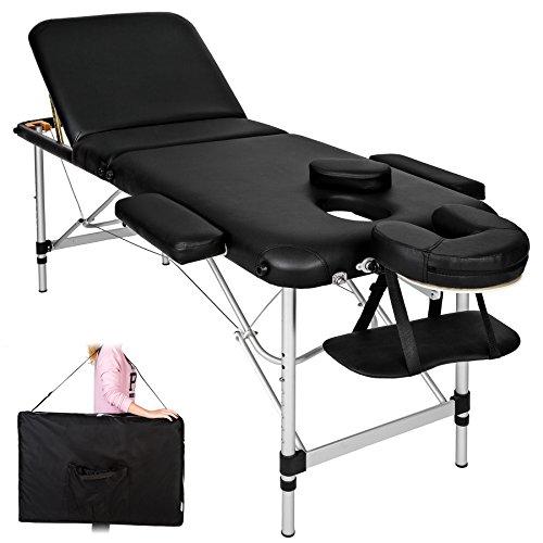 TecTake Camilla de masaje Mesa de masaje Banco de masaje en