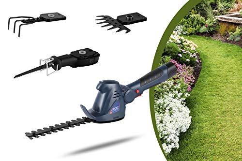 WOLFGANG Attrezzo da giardino multifunzione 4 in 1, Tosaerba, cesoie per erba, tagliasiepi,...