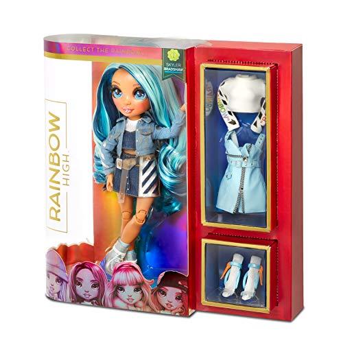 Image 7 - Rainbow High Poupée Mannequin - Skyler Bradshaw – Poupée thème bleu avec tenues luxueuses, accessoires et socle - Série 1 - Parfait pour les filles de 6 ans et plus
