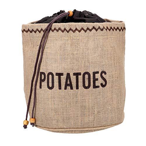 NATURAL ELEMENTS Bolsa con Forro para Conservar Patatas, Tela, Beige, 26.8x33x2 cm