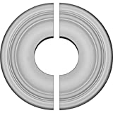 Ekena Millwork CM09MA2-03500 Maria Ceiling Medallion, 9 5/8'OD x 3 1/2'ID x 1 1/8'P (Fits Canopies up to 3 1/2'), Factory Primed
