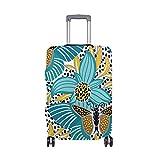 Protector de Viaje para Maleta de Equipaje con diseño Floral de Mariposa Tropical, Apto para 18-32 Pulgadas