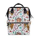 Bolsa de pañales Mochila Cachorro Perro Blanco Bolsa de bebé Mochila escolar Mochila de mamá Bolsa de viaje multifunción grande