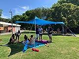 ZiggyShade Family Beach Sunshade. Lightweight Pop Up Tent Sun Shelter with Sandbag Anchors, 4 Pegs. UPF50+ Portable Outdoor Canopy. 7.2x8 FT, 2 Poles