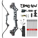 HYF Takedown Recurve Bow Package R3,Ready to Shoot Archery Set for Adults,Bow and Arrow Set (Black...