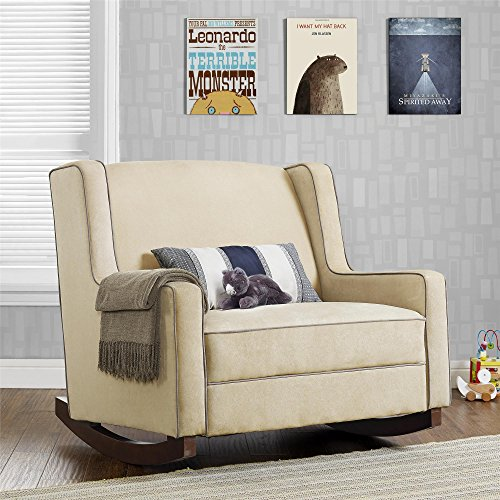 Baby Relax Hadley Double Rocker Chair, Baby Nursery Furniture, Beige