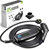 Morec EV Charger Level 2 32 Amp Upgraded Portable Electric Vehicle Charger, NEMA 14-50 220V-240V 26ft (7.9M) EV Charging Cable, SAE J1772 Compatible with Most Electric Cars