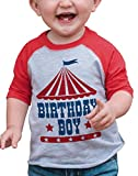 7 ate 9 Apparel Boy's Birthday Circus Red Raglan 2T
