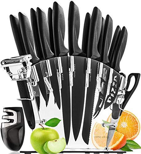 Ceppo con 13 Coltelli da Cucina e Affilacoltelli di Home Hero - Set Coltelli Professionali Cucina in...