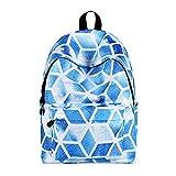 AHJSN Casual Geometric Galaxy Pattern School Bag Mochila para Mujer y niña Mochila Bolsa de Viaje 40 * 30 * 17 cm Style-4