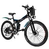 Vélos électriques Speedrid, VTT électriques pour Adultes, vélo électrique Pliant de Banlieue avec Batterie au Lithium 36V 8Ah et Roue intégrée élégante (36V/8Ah 26'' Noir)