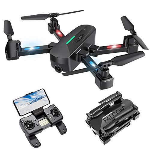 Drone con Telecamera, Drone GPS con Funzione di Calibrazione Automatica, 4K HD 5G FPV, Quadricottero con Telecomando Ricaricabile, Tempo di Volo 15 Minuti, modalit per Principianti ( 2020 Nuovo)