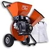 SuperHandy Wood Chipper Shredder Mulcher Ultra Duty 7HP Gas 3 in 1 Multi-Function 3' Inch Max Wood Capacity EPA/CARB Certified for Fire Prevention/Building Firebreaks (Amazon Exclusive only for USA)