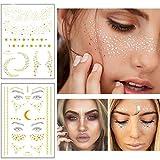 Xinlie 2 Piezas Tatuajes en la cara Pegatinas Pegatinas para Tatuajes de...