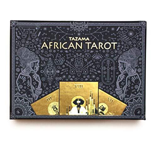 Tazama African American Rider Waite Modern Black Tarot Deck...