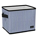 SCOUT Hang-10 Bin Collapsible Storage Bin Fits Hanging Files, Office Supplies or Bathroom Storage, 12.25' W x 10.25' H x 9.5' D (Multiple Patterns Available)