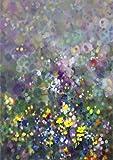 wZUN Acuarela Abstracta Flor Arte de la Pared Carteles e Impresiones decoración del hogar imágenes de Flores decoración de la Pared 60x90cm Sin Marco