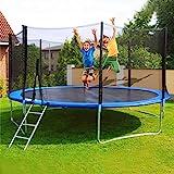 ZIPSAK Kids Trampoline with Safe Enclosure Net, Waterproof Jump Mat, Ladder for Indoor and Outdoor, 10-Foot, Capacity for 3-4 Kids