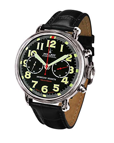 POLJOT International Fliegeruhr Herrenuhr Chronograph Moscow Nights Mechanisch