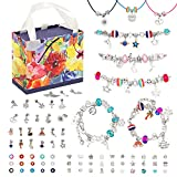 Beostar 93pcs Charm Bracelet Making Kit, DIY Beaded Jewelry Making Kits Supplies with Necklace Cord...