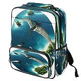 Mochila escolar casual con estampado de Pomerania para ordenador portátil, mochila multifuncional, Patrón #4 (Multicolor) - backpacks013