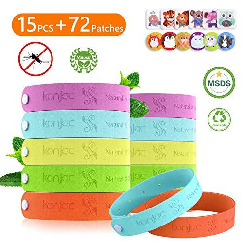 konjac 15pcs Bracelet Anti Moustique Enfant Matériau Naturel 100% Durant...