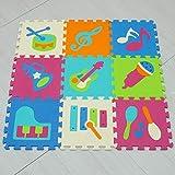 qqpp Puzzles de Suelo,Alfombra Puzzle de 25 Piezas | Fruta (30*30*1.0CM) | Alfombrilla de Juego...