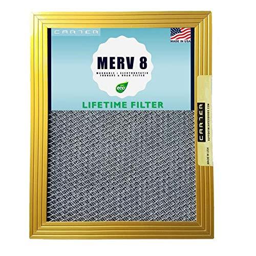 20X25X1 CARTER | MERV 8 | Lifetime HVAC & Furnace Air Filter | Washable Electrostatic | High Dust Holding Capacity
