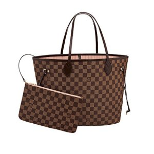 Louis Vuitton Damier Canvas Neverfull MM Rose Shoulder Handbag Article: N41603 Made in France 5
