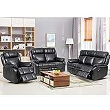 FDW Recliner Sofa Set Sectional Sofa for Living Room Furniture PU...