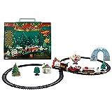 YZ-YUAN Tren navideño, simulación Retro, Tren eléctrico, Tren de Juguete, Modelo con Pista de música